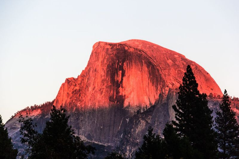 Half Dome Nature Clear Sky Outdoors No People Mountain Low Angle View Beauty In Nature Day Sky Scenics Tree Lost In The Landscape EyeEmNewHere