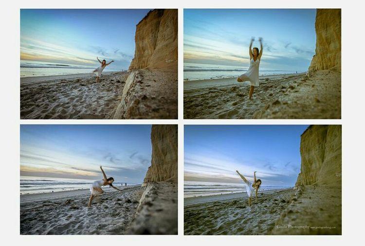 Exploring freedom. That's Me Hello World Dancing Dancer Selfportrait Seaside Dancing Around The World Travel Oceanlife Movement Selfies Capturing Movement Dance Beach Photography