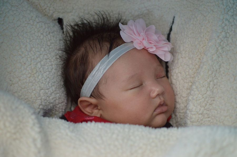 Sweet baby. My new niece. I enjoy her so much! Babies Adorable Love Sweet Snuggles Sleeping Eyes Closed  One Person Human Head People Human Face Close-up Headband Portrait Child