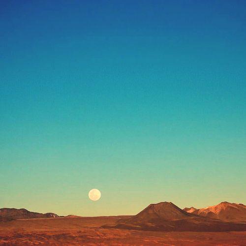 Scenic view of valle de la luna against clear sky
