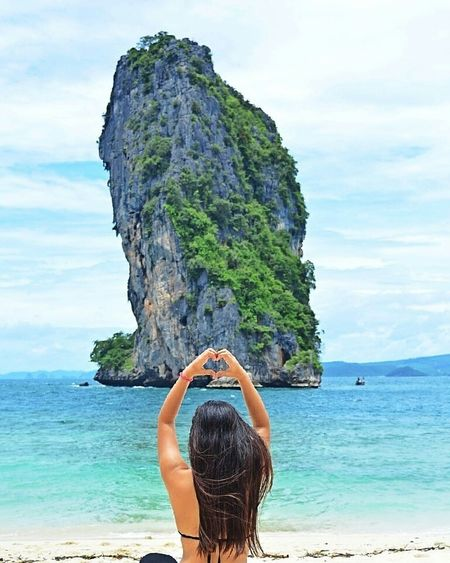 Poda island 🌊🌊Sea💙 Sky Sexygirl Love Heart Mountain View Podaisland Nature💚 Naturelovers🌼 Photography
