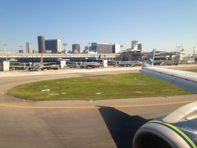 Centro da Cidade do Rio De Janeiro visto da pista do Aeroporto Santos Dumont Brazil Airport Brasil Aeroporto