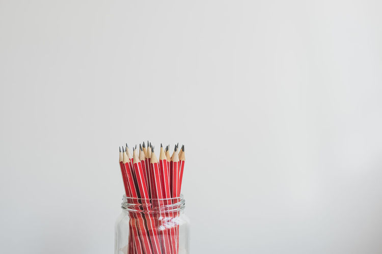 Red pencils in