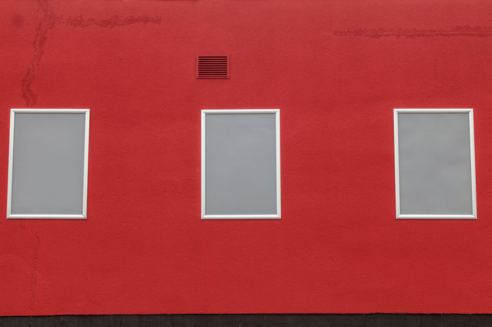 Architecture Day Hauswand Minimalist Architecture No People Red Rot Wall