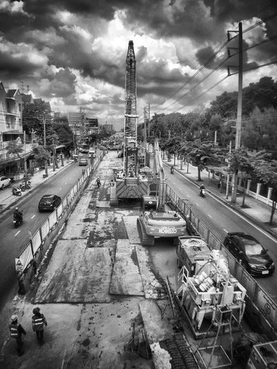 Bangkok On The Move Road Street Construction B&w Photography City Street EyeEmBestPics EyeEmbestshots EyeEm Thailand EyeEm Best Shots