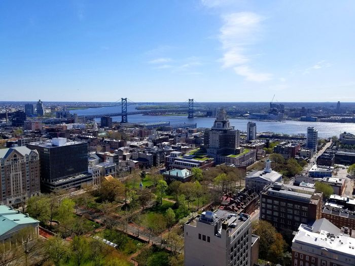 Philadelphia Views :) Philadelphia City Of Brotherly Love Walt Whitman Bridge Walt Whitman City Cityscape Urban Skyline Aerial View Business Finance And Industry High Angle View Sky Architecture Building Exterior Horizon Over Water Urban Sprawl District TOWNSCAPE