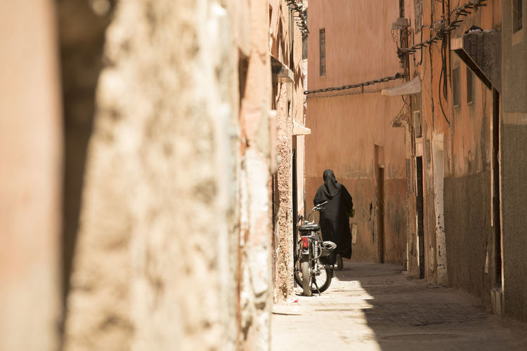 Architecture Building Exterior Built Structure Day Marrakech Men Morroco One Person Outdoors People Real People Street Streetphotography The Way Forward Walking Woman Women