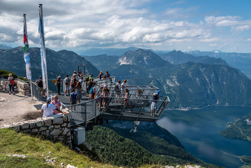 Five Fingers viewpoint over Hallstatt Five Fingers Sightseeing Architecture Beauty In Nature Cloud - Sky Day Hallstatt Large Group Of People Lifestyles Men Mountain Mountain Range Nature Outdoors Point Of View Real People Scenics Sky Viewpoint Water Women