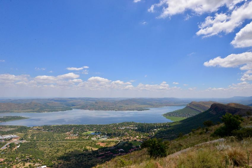 Hartebeespoort dam , from Magaliesberge Cloud - Sky Sky Landscape Scenics Beauty In Nature Tranquility Tranquil Scene Nature Day Outdoors Mountain No People Blue Travel Destinations Water Harties Hartebeespoort Hartbeespoort Dam Wall Hartebeespoort South Africa Hartbeespoort Dam Travelling