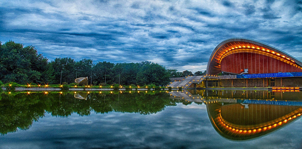 The Fable of the Oyster and the Butterfly Berlin Panorama HDR Reflection