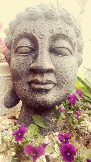 Statue Eye4photography  Eyeemphotography Taking Photos Capture Nature_collection Pond Life Gardens Flowers Buddha Head