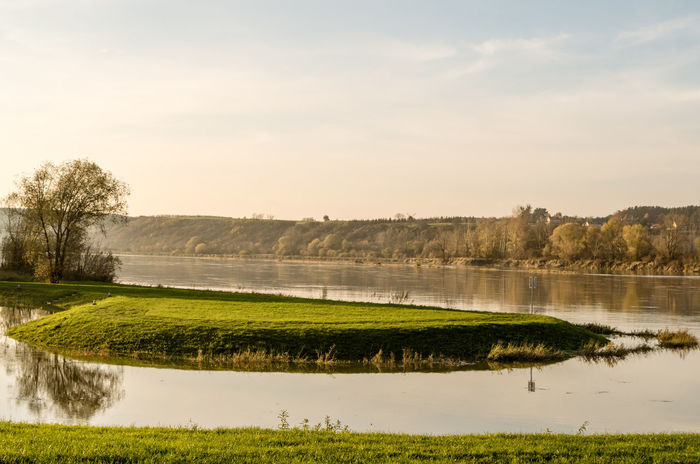 Vistula Beauty In Nature Day Golf Course Grass Green Color Lake Landscape Marsh Nature No People Outdoors Reflection Scenics Sky Tranquil Scene Tranquility Tree Water
