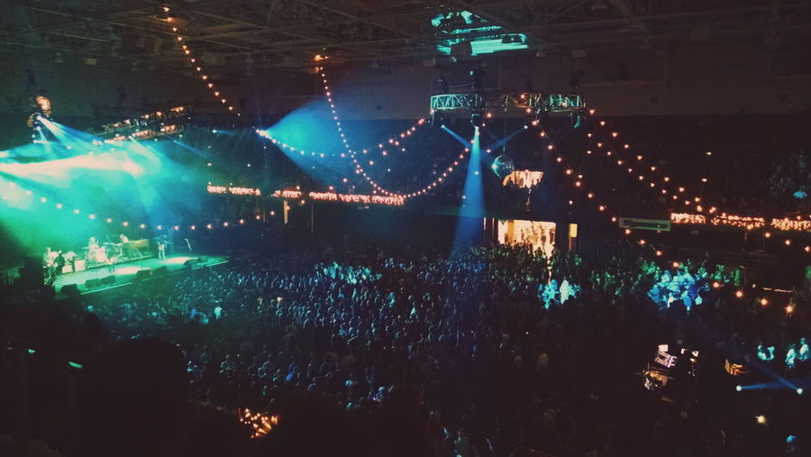 Jam bands make me a happy lil clam Illuminated Night City Life Nightlife Aerial View Concert Crowd Balcony Balcony View Civic Center Asheville Asheville, NC Us Cellular Center Lights Concert Lights Dark