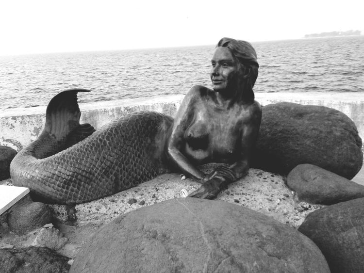 Mermaid Ocean Beautiful Blackandwhite Original Monuments Veracruz Taking Photos