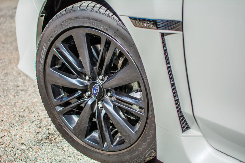 2017 Subaru WRX Close-up Day No People Outdoors Spoke Wheel White Crystal Pearl