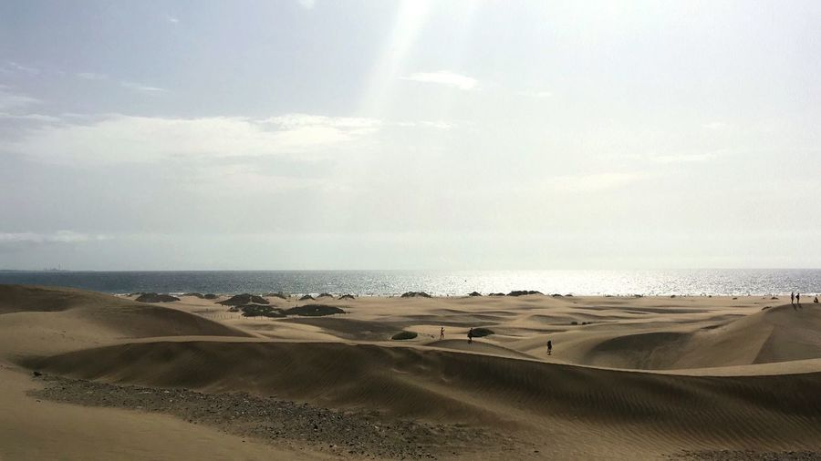 Vacation time Beach Desert Dunes Maspalomas Dunas Maspalomas Beach Playadelingles Canarias Canarian Islands GranCanaria Vaccation Mylifebelike Nature Beauty In Nature Outdoors Sand Summertime Vacation Time Enjoy Every Day :-) Blue