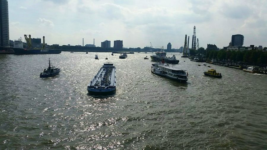 Architecture Built Structure Cloud Water Sky Outdoors Day Netherlands Rotterdam Sea And Sky Wereldhavendagen Boat Ship