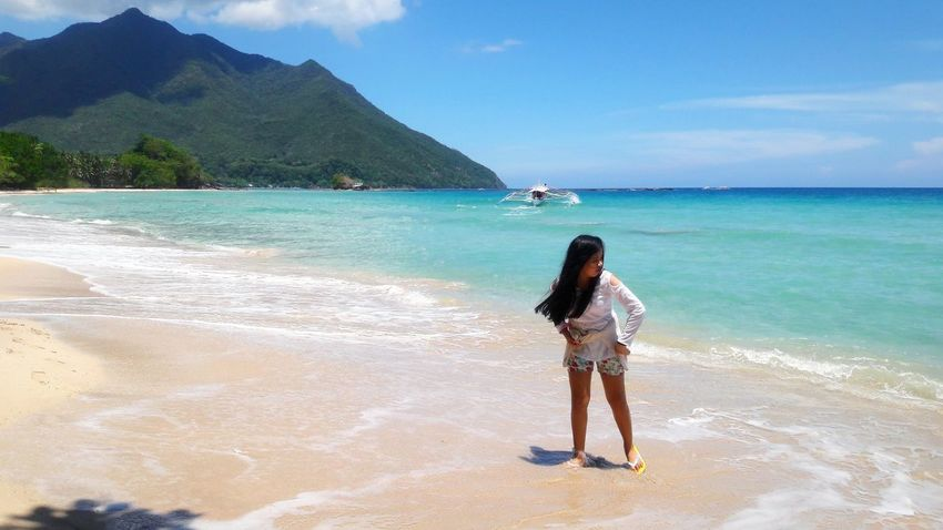 Water Sea Full Length Beach Young Women Standing Women Sand Summer Wave Coastline Seascape Surf Sandy Beach