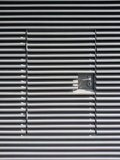 View of metallic door