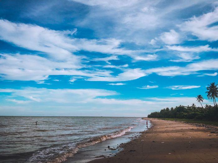 Lamaru Beach Borneo Water Cloud - Sky Sea Beach Land Beauty In Nature Scenics - Nature Tranquility Tranquil Scene Nature Day Horizon Horizon Over Water Sand Blue Idyllic No People Non-urban Scene Outdoors