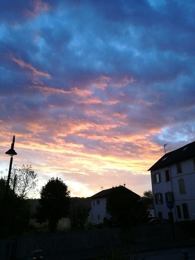 Basque Country Ustaritz Tree Sunset City House Sky Architecture Building Exterior Built Structure Cloud - Sky Romantic Sky