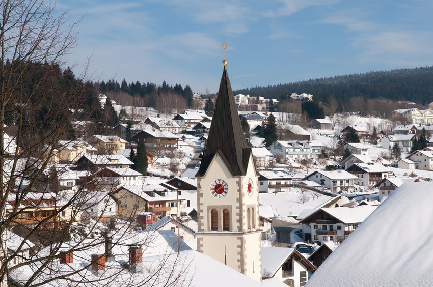 Sankt Englmar Bavaria Church Travel Architecture Cityscape Cold Temperature Day Germany Nature Outdoors Religion Sankt Englmar Ski Resort  Sky Snow Tourism Tourist Resort Town Travel Destinations Winter