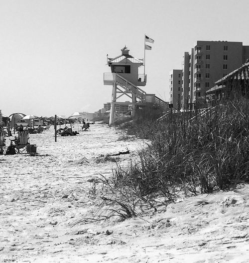 Lifeguard Station New Smyrna Florida Beach Atlantic Ocean Black And White Saw Grass The Great Outdoors - 2016 EyeEm Awards The Great Outdoors - 2017 EyeEm Awards