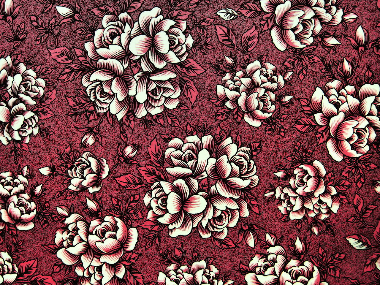 Detail Shot Of Floral Fabric
