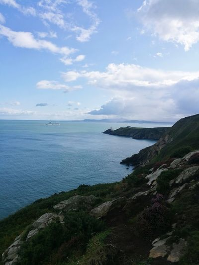 Howth Sea Cloud - Sky Beach Nature Beauty In Nature Landscape Water Horizon Over Water Outdoors Tranquility Scenics Travel Destinations No People Vacations Sky Day Beauty In Nature Green Color Freshness