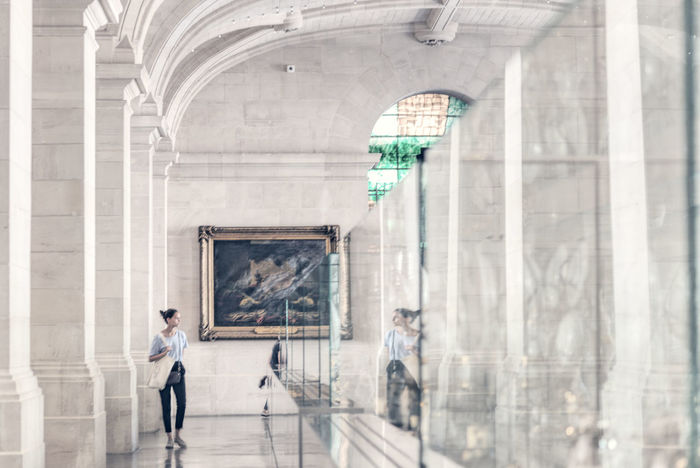 Exploring Art 19th Century Buildings Beaux Arts Colours EyeEm Best Shots France Light Architectural Column Architecture Art Building Fujifilm Indoors  Musuem One Person Painting Reflection Visiting Window Women Young Adult