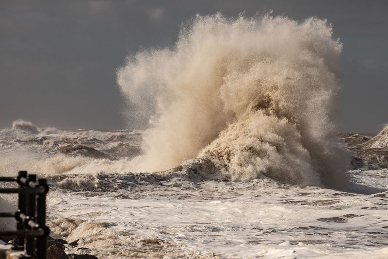 Breaking waves Shoreline Gale Stormy Sea Stormy Weather Coastline Coastal Landscape New Brighton Waves Liverpool River Mersey Waterfront Motion Water Power In Nature Splashing Nature Sea Power Beauty In Nature Outdoors