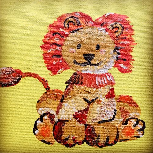 Painting Lion Painting Nursery Painting Acrylic Painting Nursery Lion Art And Craft Happiness