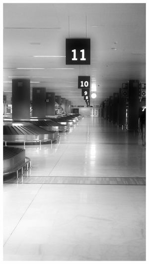 AIR Port Airport Baggage Baggage Claim Empty Places Floor Hall Way Mode Of Transport Numbers Solitude Transportation