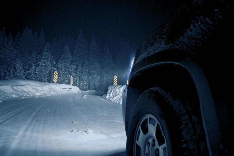 Dangerous Winter Road at Night. Colorado Road Drive in Snow Storm. Breckenridge Colorado  Colorado Road Car Cold Temperature Covering Illuminated Land Land Vehicle Mode Of Transportation Motor Vehicle Mountain Nature Night No People Outdoors Road Road Trip Snow Sports Utility Vehicle Tire Transportation Travel Wheel Winter