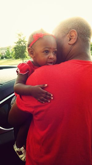 Color Red Father & Daughter Baby Nofilterneeded