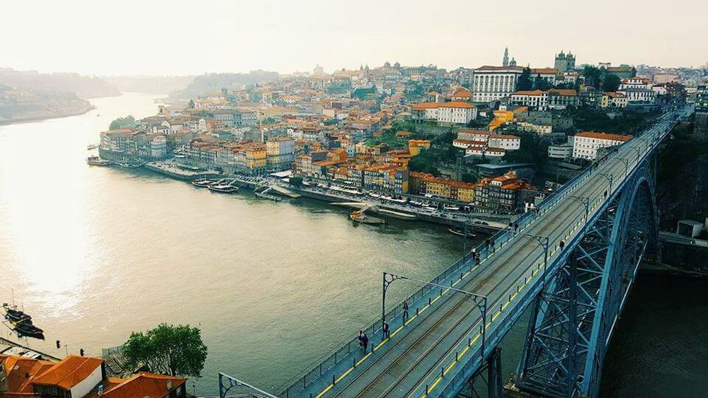 City High Angle View Cityscape Bridge - Man Made Structure Building Exterior Sky Architecture Portugal Oporto Porto Spring Travel Travel Destinations Tourism Delphinegidoinphotography Built Structure Architecture Birdeyeview View Point View From The Top View From Above River Water Mobilephotography Inspirational
