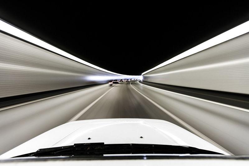 Car Illuminated Land Vehicle Lightspeed Mode Of Transport Motion No People Speed The Way Forward Time Timetravel Timetraveling Timewarp Transportation Tunel Warp