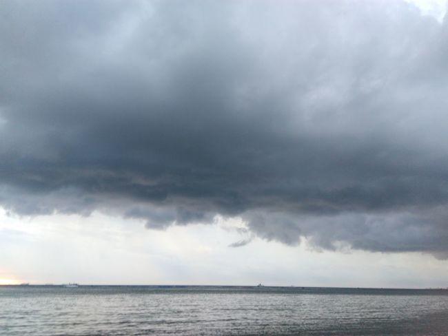 Raining Cloud Sea Landscape Day Cloud Clouds And Sky Weather Si Racha Chon Buri Thailand
