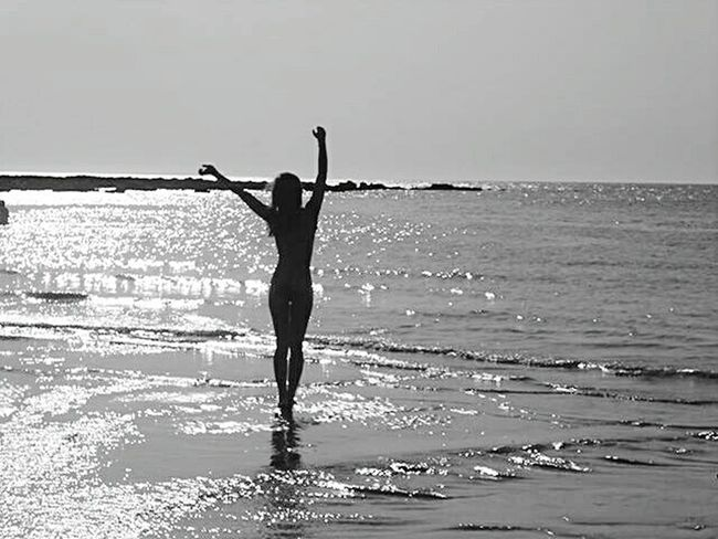 Blackandwhite Photography Silhouette Love That's Me! ThatsMe Water Beach Body Shot Shadow