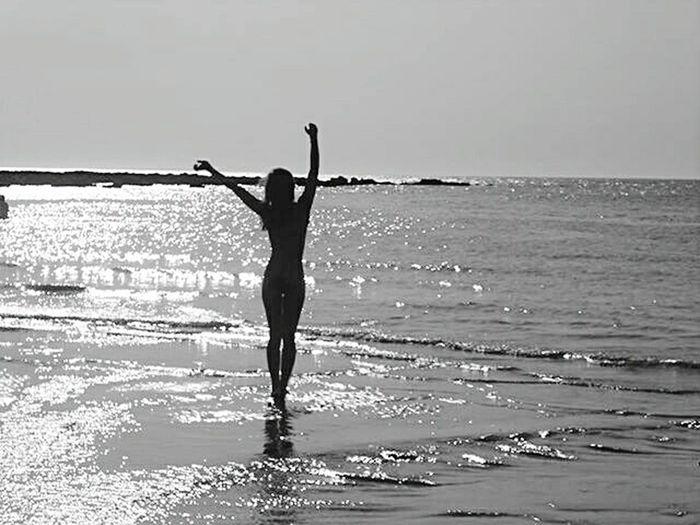 Blackandwhite Photography Silhouette Love That's Me! ThatsMe Water Beach Body Shot Shadow
