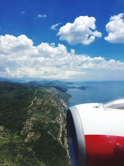 Above the air Flight ✈ Airplane Croatia Outdoor Photography Photography In Motion