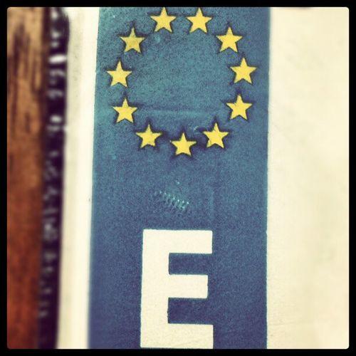 Unión Europea Focus Euro Plate License stars old nexus