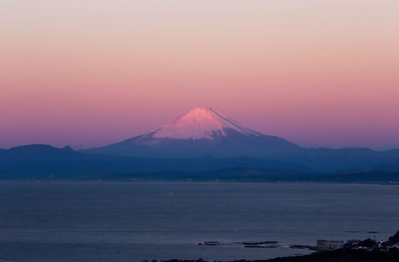 Red Mt.Fuji in