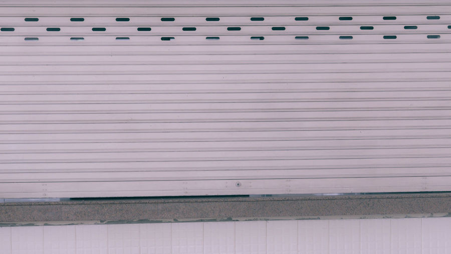 Pattern Architecture Wall - Building Feature Built Structure Iron Shutter Corrugated Iron No People Building Exterior Closed Metal Backgrounds Day Full Frame Corrugated Safety Security Protection Textured  Wall Garage Sheet Metal