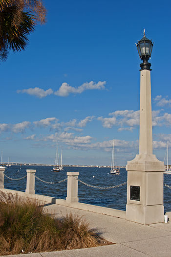 St. Augustine, FL  Architecture Beach Beauty In Nature Blue Building Exterior Built Structure Cloud - Sky Day Horizon Over Water Nature No People Outdoors Scenics Sea Sky Travel Destinations Water