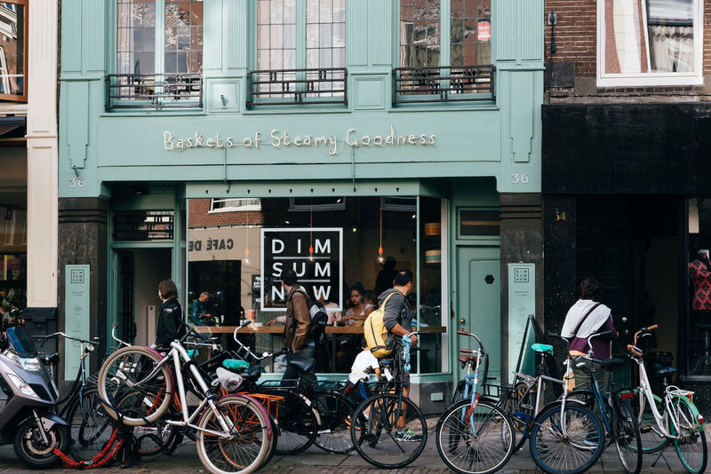 Asian restaurant with bicycles beside the entrance Asian  Asian Food Bicycles City City Life Cityscape Dim Sum Dim Sum Lunch Dim Sum Restaurant Dim Sum Time Ethnic Latin Quarter Multiculturalism Oude Pijp Restaurant Street Travel Travel Destinations