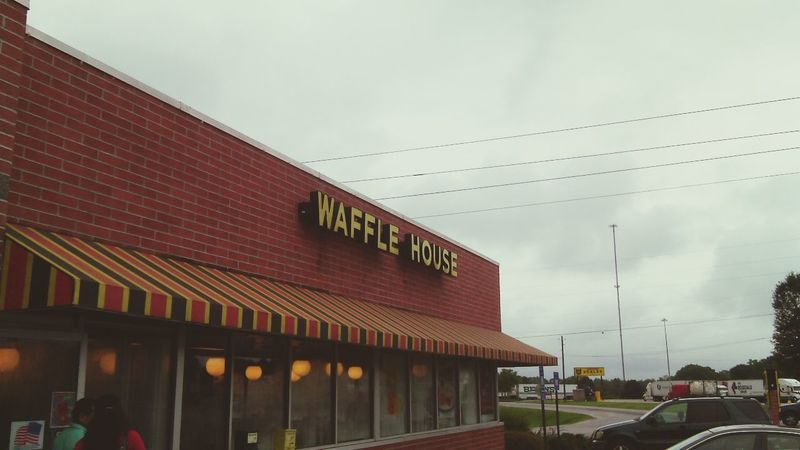 Breakfast Waffle House Delicious Instagram follow me. Kinda of a plus of America.