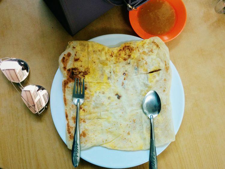 Roti canai susu (Malaysian Food) Roticanai Malaysianfood Mamakfood Food And Drink Ready-to-eat Plate