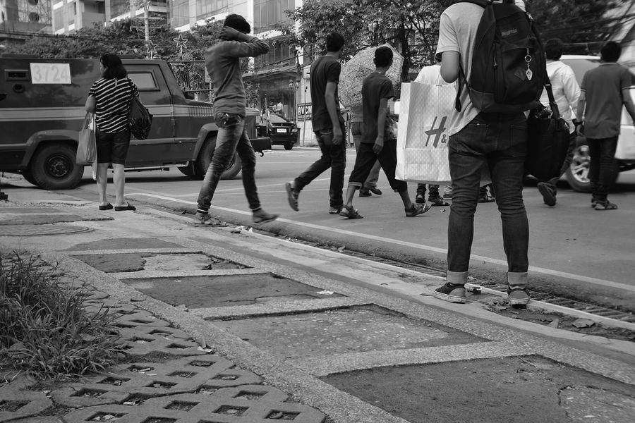 Eyeem Philippines EyeEm Best Shots Street People And Places City Life Blackandwhite Photowalk Fujifilm_xseries Xe1 Fujian 35mm Cctvlens Cebu City, Philippines