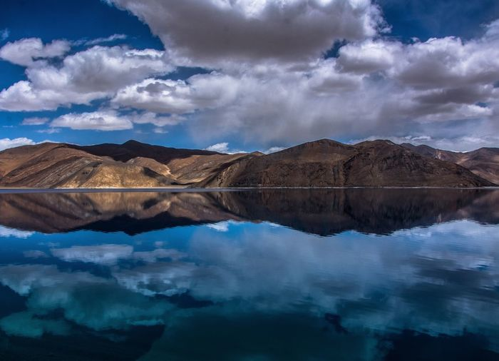 Reflection Mountain Sky Cloud - Sky Beauty In Nature Tranquility Water Tranquil Scene Scenics Mountain Range Nature Lake Waterfront Outdoors No People Day Blue EyeEmNewHere Be. Ready.